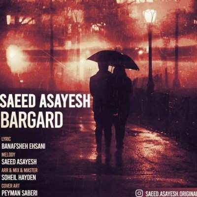 Saeed Asayesh – Bargard - دانلود آهنگ سعید آسایش برگرد